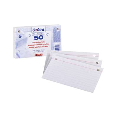 Oxford Index Card Refill 50Ct By Esselte