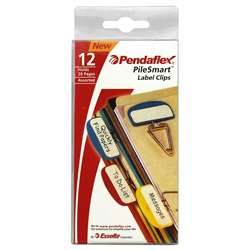 Pendaflex Pilesmart Label Clips Primary Assorted By Esselte