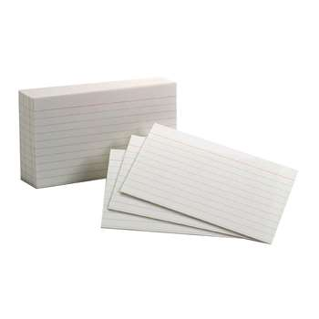 Oxford Index Cards 3X5 Ruled White 100 Per Pack By Esselte