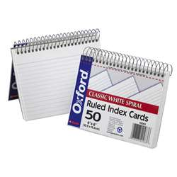 Oxford Spiral Index Cards 4X6 White By Esselte