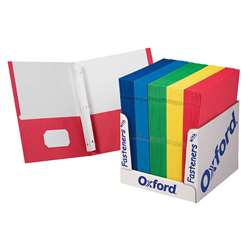School Grade Twin Pocket Folders With Fasteners 100 Per Box By Esselte