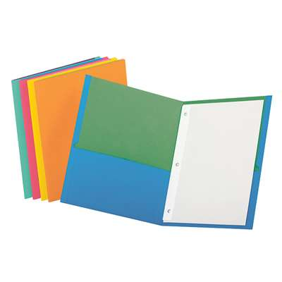Oxford Twisted Twin Pocket Folders Assorted With Fasteners By Esselte