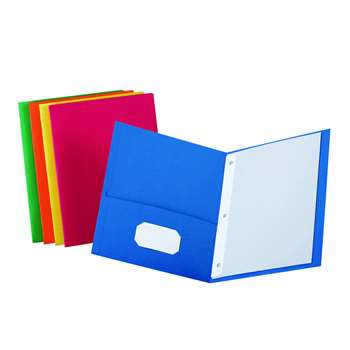 Twin Pocket Portfolios Box Of 25 Assorted Colors By Esselte