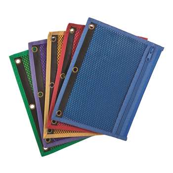 Oxford Zipper Mesh Binder Pockets 10 1/2 X 7 1/2 By Esselte