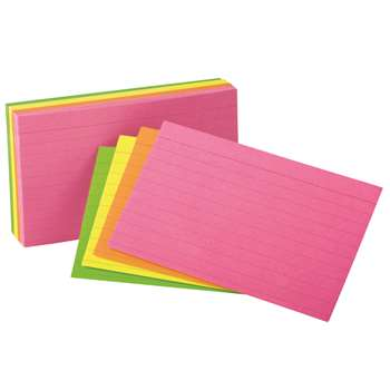 Oxford Glow Index Cards 4 X 6 By Esselte