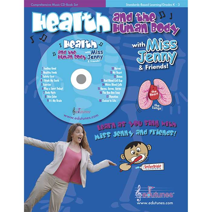Health And The Human Body With Miss Jenny & Friends Cd Book Set By Edutunes