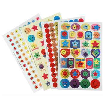 Sticker Book Stars & Smiles 268/Pk Sparkle By Eureka