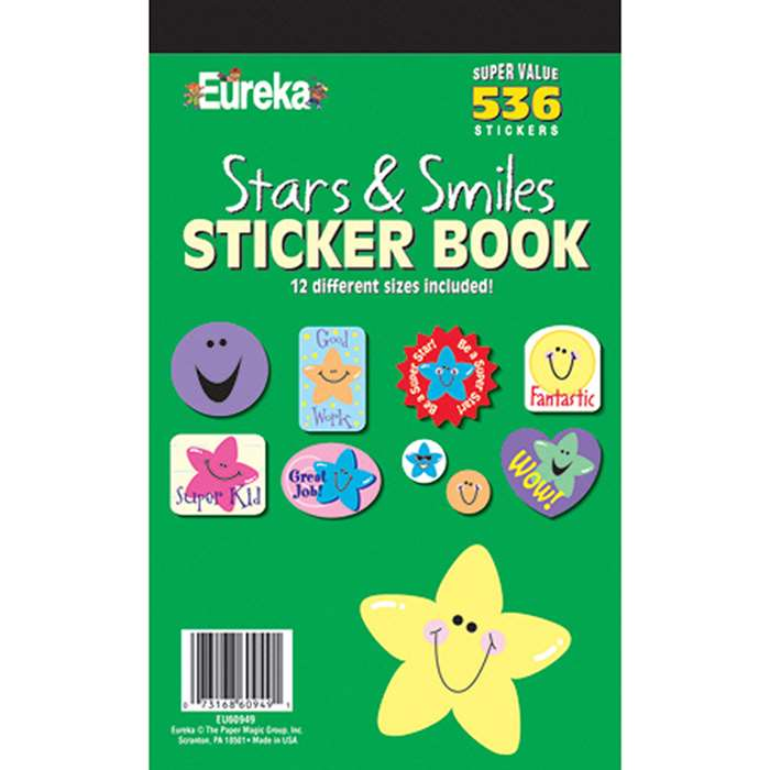 Sticker Book Stars And Smiles By Eureka