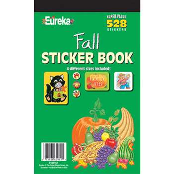 Sticker Book Fall 528/Pk By Eureka