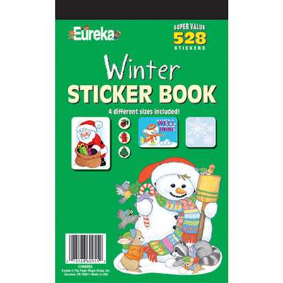 Sticker Book Winter 528/Pk By Eureka