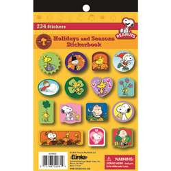 Peanuts Holidays And Seasons Sticker Book By Eureka