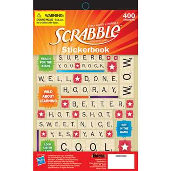 Scrabble Stickerbook By Eureka