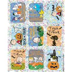 Peanuts Halloween Sparkle Stickers By Eureka