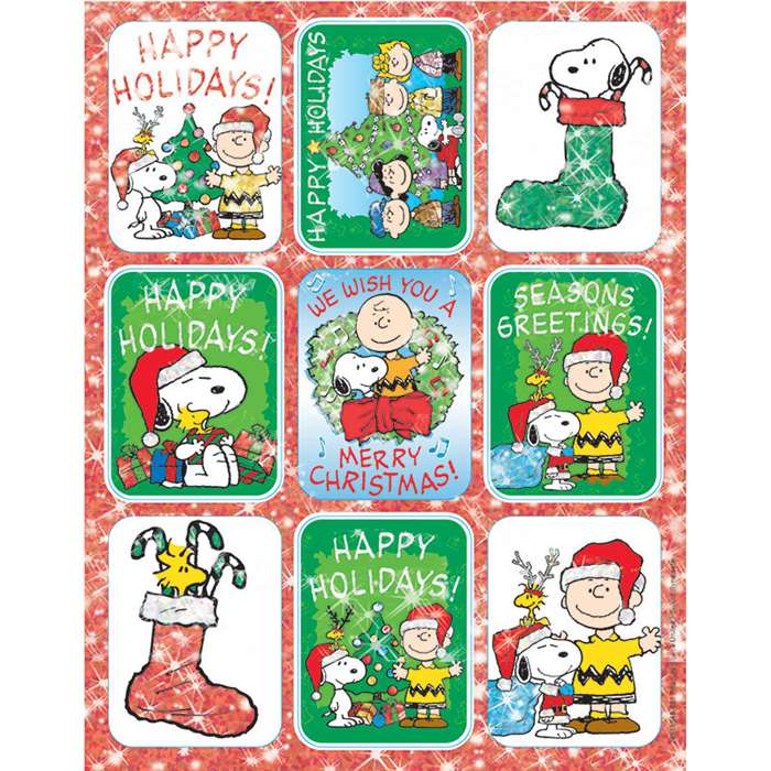 Peanuts Christmas Stickers Flatpack By Eureka