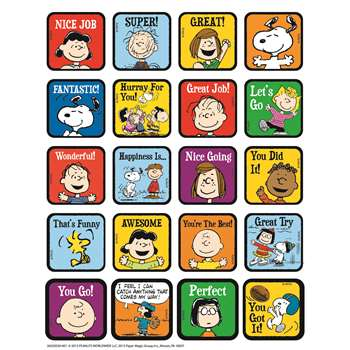 Shop Peanuts Motivational Theme Stickers - Eu-655055 By Eureka