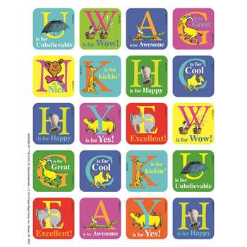 Shop Dr Seuss Abc Theme Stickers - Eu-655056 By Eureka