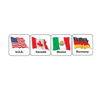 Stickers World Flags By Eureka
