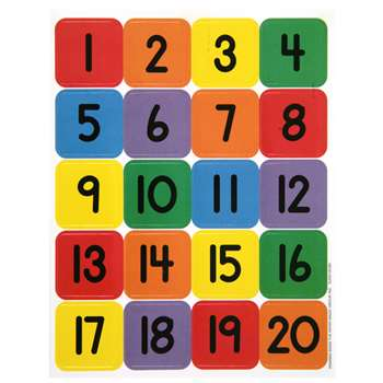 Numbers 1 - 20 Theme Stickers By Eureka