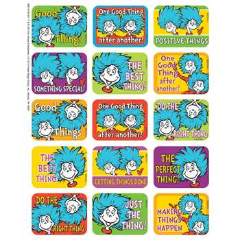 Shop Dr Seuss Thing 1 And 2 Success Stickers - Eu-657413 By Eureka
