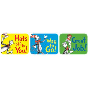 Cat In The Hat Success Stickers By Eureka