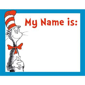 Cat In The Hat Name Tags By Eureka