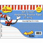 Dr Seuss Hat To Feet 100Sht Handwriting Practice Paper By Eureka