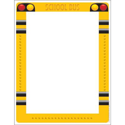 School Bus Computer Paper By Eureka