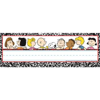 Peanuts Classic Characters Self Adhesive Name Plates By Eureka