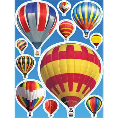 Hot Air Balloons Window Clings By Eureka