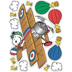 Peanuts Flying Ace Window Clings By Eureka