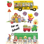 Window Cling Suzy'S Zoo School 12X17 12 X 17 By Eureka