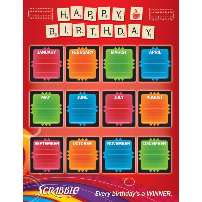 Scrabble Birthday 17X22 Poster, EU-837027