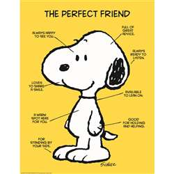 Peanuts The Perfect Friend 17X22 Poster, EU-837039