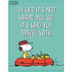 Peanuts Who You Travel With Poster, EU-837244