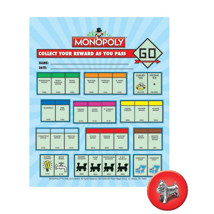Monopoly Mini Reward Chart By Eureka