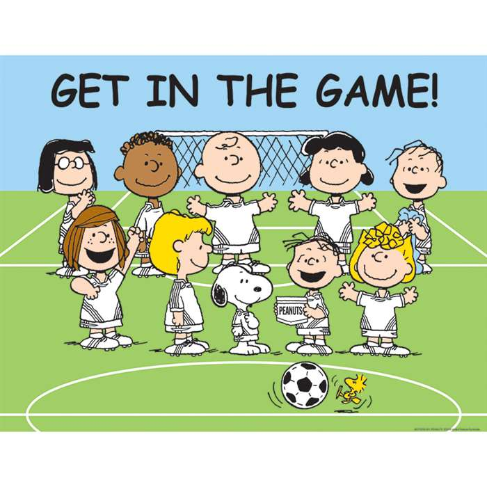 Peanuts Get In Game 17X22 Poster By Eureka