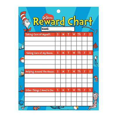 Chore Chart Cat In Hat Reward By Eureka