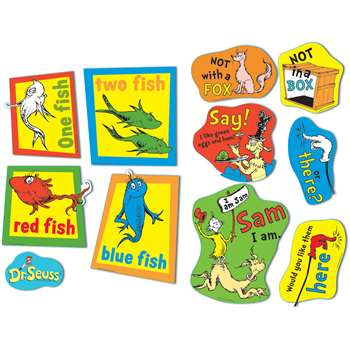 Large Dr Seuss Fish Fox And Sam 2 Sided Deco Kit By Eureka