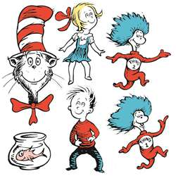 Large Dr Seuss Characters 2-Sided Deco Kit By Eureka