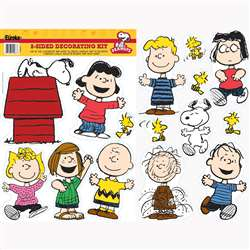 Peanuts Classic Characters 2 Sided Deco Kit By Eureka