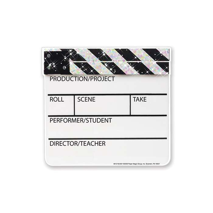 Cut Outs Sparkle Clapboard By Eureka