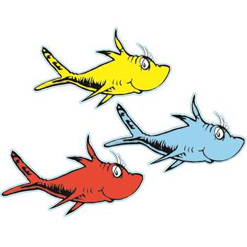 Dr Seuss One Fish Two Fish Paper Cut Outs By Eureka