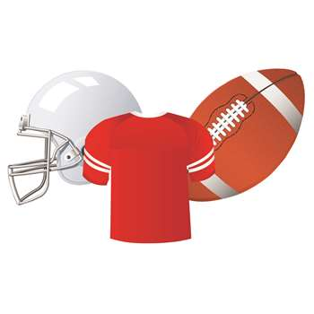 Football Assorted Cut Outs By Eureka
