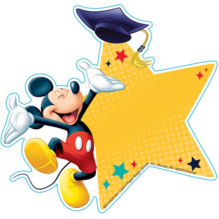 Mickey Graduation Paper Cut Outs, EU-841340