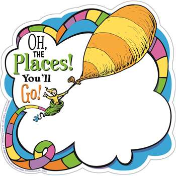 Dr Seuss Oh The Places Paper Cut Outs, EU-841541