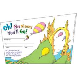 Seuss-Oh. The Places You Will Go Recognition Awards By Eureka