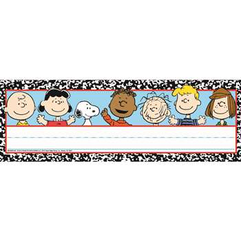 Shop Peanuts Composition Tented Name Plates - Eu-843505 By Eureka
