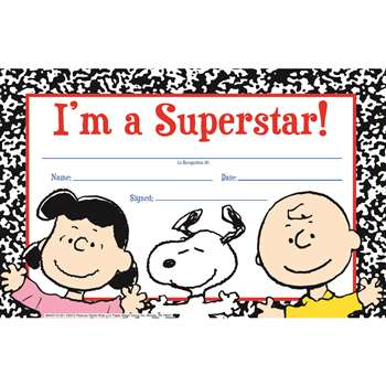 Peanuts Super Star Recognition Awards By Eureka