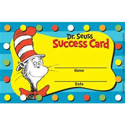 Dr Seuss Cat In The Hat Reward Punch Cards By Eureka