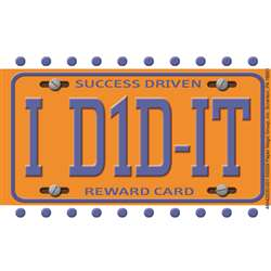 License Plate Reward Punch Cards By Eureka